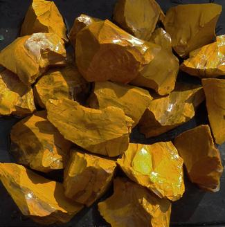 yellow jasper, brazil, tumbling rock, rough, stones, lapidary, crystals