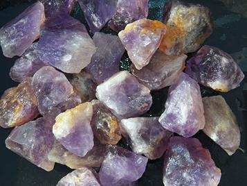 amethyst, bolivia, ametrine, rough stones, tumbling rock, quartz, purple, power stone, metaphysical, crystal